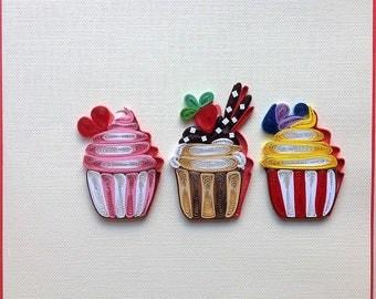 Birthday Cake Card, Cupcake Card