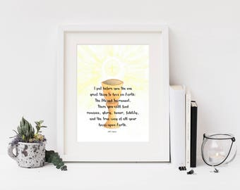 8x10 Print: The Blessed Sacrament/ Tolkien Eucharist Quote