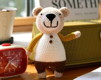 crochet pattern-The little bear Tommy(PDF/ENG)