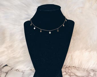 Heart + Star Necklace