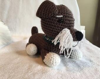 Crochet Schnauzer dog