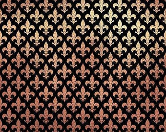 Fleur de lis/printed vinyl/HTV/vinyl/651/oracal/adhesive/blanks/small business/heat transfer/