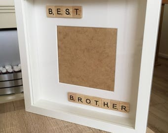 Best brother scrabble photo frame