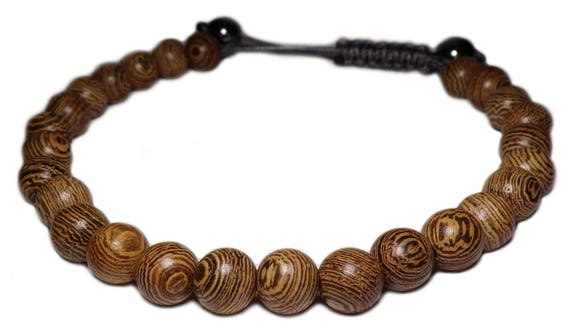 The bracelet cord wood beads
