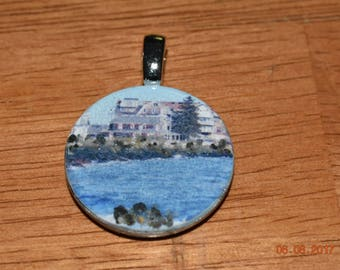 Necklace Pendant of Middle Beach in Kennebunk Maine