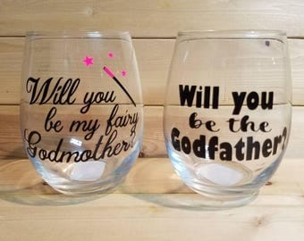 Will you be my godparents glasses
