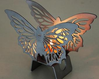 2 in 1 tea light holder and vase - Butterfly