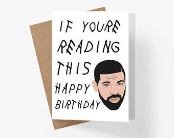 Drake Birthday Card, Drake Party, Drake Card, Birthday Card, Rap Card, Drake Party, Drake