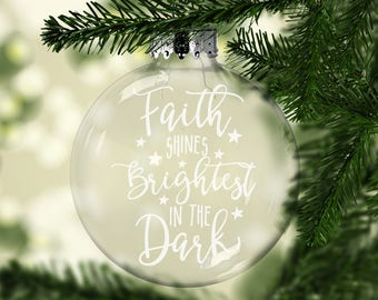 Hurricane Harvey Relief Ornament - Disaster Relief Ornament - Relief Support - All Profits Donated To Texas Relief - Faith Shines Brightest