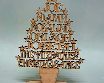 Family Christmas tree - Personalised with names & surname