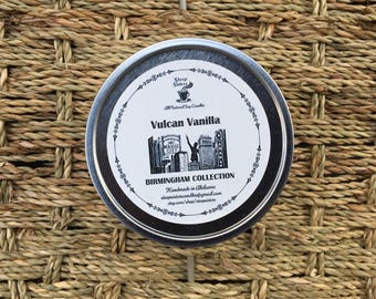 Vulcan Vanilla Scented Soy Candle - Birmingham Collection - 8 oz Travel Tin