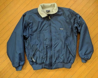 Men's Vintage Patagonia Fleece-Lined Winter Jacket, Small