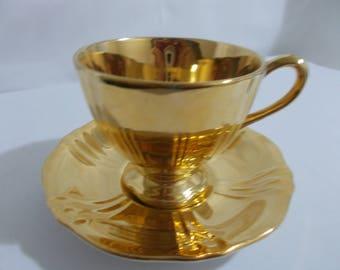 Royal Winton Gold Tea Cup and Saucer