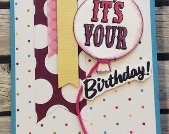 It's Your Birthday - Purple & Blue