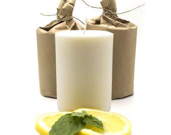 Citrus & Basil Soy Pillar Candle