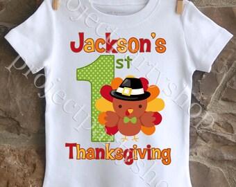 Boys First Thanksgiving Shirt, Thanksgiving Shirt for Boys, Thanksgiving Outfit for Boys