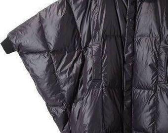 Oversized black jacket/ Winter jacket/ Women jacket/ Plus size designer jacket/ Extravagant loose jacket
