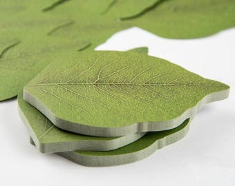 Realistic Leaves Mini Post it Note Notepad