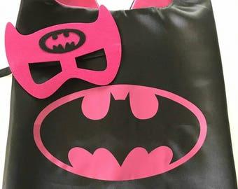 Batgirl Cape and Mask Set, Batgirl Cape, Batgirl Party Favors, Supergirl Party, Batgirl Party, Batgirl Cape, Superhero party, Supergirl Cape
