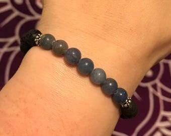 Lava & Adventrine Essential Oil Diffuser Bracelet