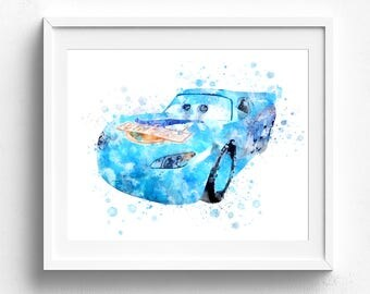 Dinoco McQueen, lightning mcqueen, cars mcqueen prints, mcqueen art, disney cars, disney cars poster, cars mcqueen prints, disney cars art