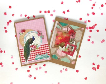 Set of 2 cards / weheartconfetti