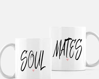 Soul Mates, Wedding gift, bridal shower gift, anniversary gift, mugs, coffee mugs, tea mugs, couple gift, valentine's day gift