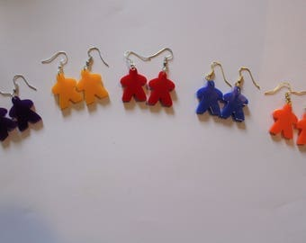 Meeple style novelty earrings