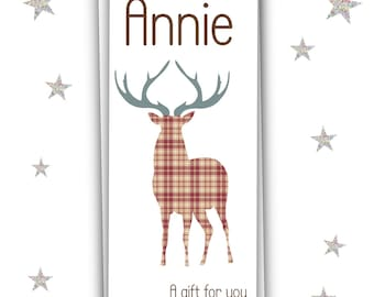 Personalised Stag Money Wallet/Xmas Gift/Money Card/Stag Greeting Card/Gift Card/Free UK Shipping