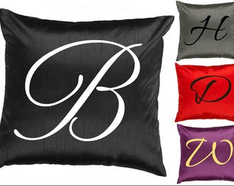 Throw Pillow Cover - Initial Pillow - Monogram Pillow - Personalized Pillow - Custom Pillow - PILLOW COVER ONLY