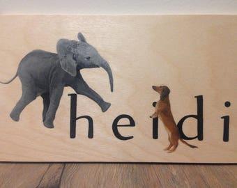 Hand-painted custom name art