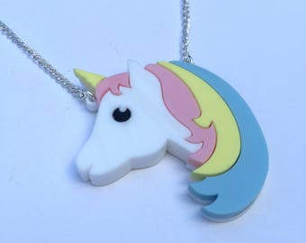 Unicorn Necklace, acrylic necklace