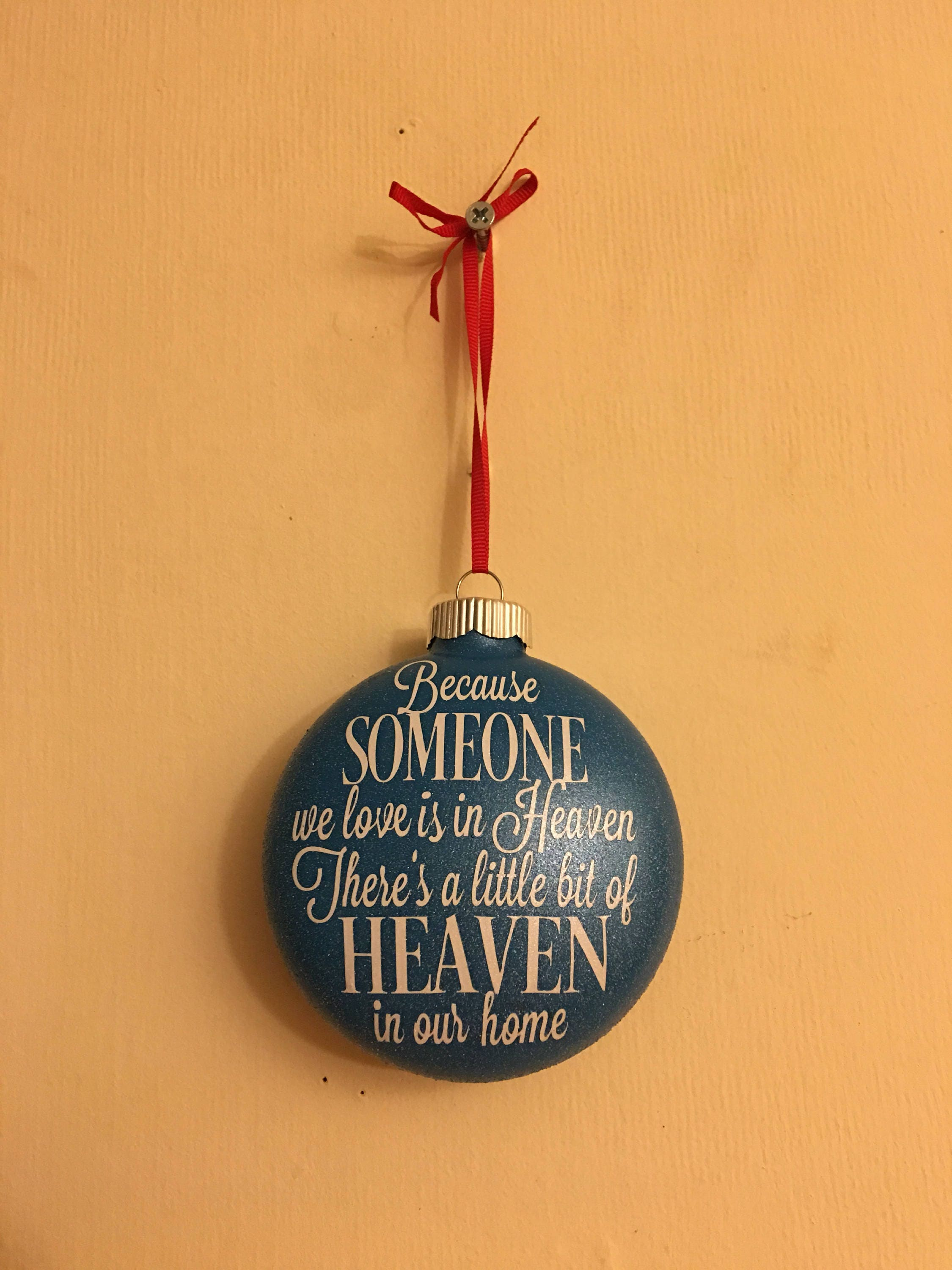 Christmas Ornaments For Lost Loved Ones Part - 32: Details. Ornament To Hang On Your Christmas Tree In Honor Of A Lost Loved  One.
