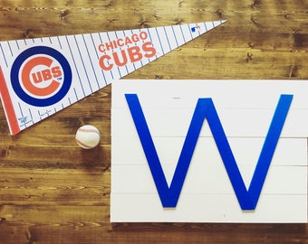 Cubs W Wall Hanging - 24inx17in
