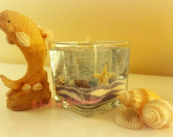 """Gel Candle """"Blue Ocean"""", Amber Romance scented"""