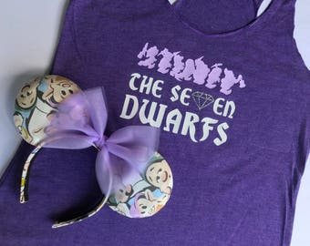 The Seven Dwarfs tee, Seven Dwarfs Shirt, Seven Dwarf tank, Mine Train