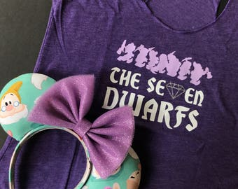 The Seven Dwarfs Tee & Ears set