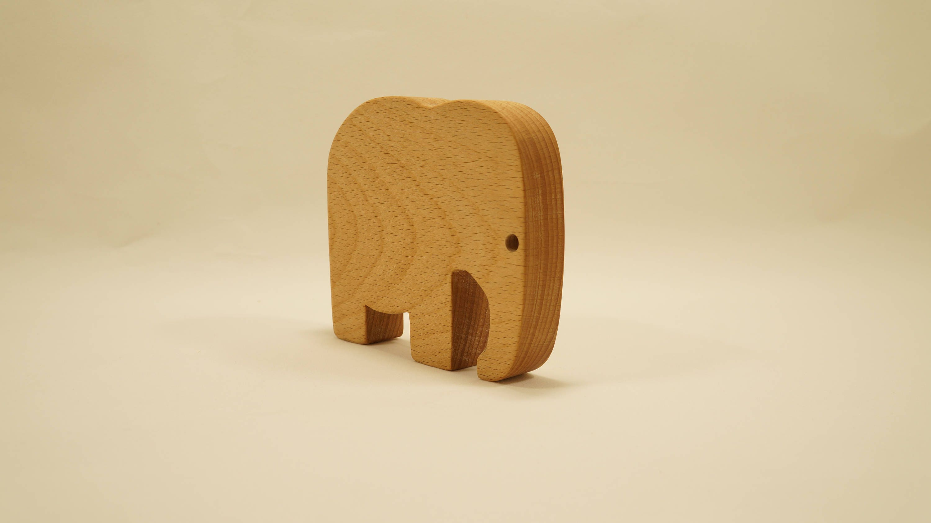 Wooden elephant toy Handmade Natural Wood wooden toy free