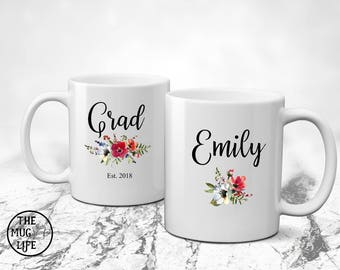 Graduation mug, personalized mug, graduation gift, coffee lover gift, graduation 2018, grad mug, college graduation, gift for graduate