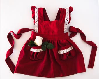 Cranberry pinafore