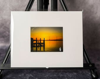 Matted Print: Annapolis Sunrise
