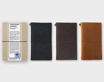 TRAVELER'S notebook Starter kit - Regular Size (Black/Brown/Camel) - TRAVELER'S COMPANY | Traveler's Factory | japanese notebook