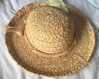 Vintage Raffia Hat