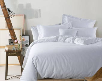 Egyptian Cotton White Duvet Cover Set 1000 Thread Count