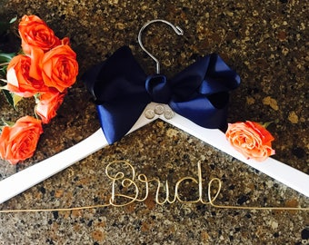Custom Bride Wedding Hanger. Bridal. Name Hanger. Personalized. Bride. Cheap Hanger. Bridal Gift.