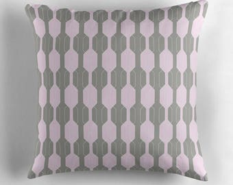 Grey and Pink, Pink Cushion, Grey Pillow, Geometric cushion, Geometric throw pillow, throw pillow, cushion cover, geometric home decor