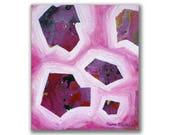 Original abstract pink pa...