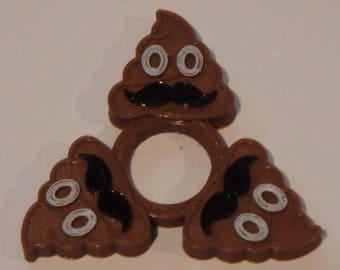 Mustache Poop Fidget Spinner