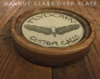 Walnut Glass over Slate