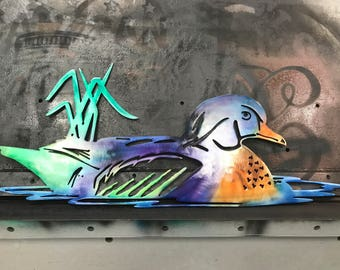 metal wood duck